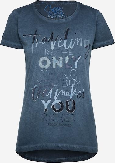Soccx T-Shirt mit Glitter Artwork in dunkelblau, Produktansicht