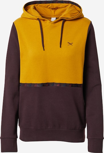 Iriedaily Sweatshirt 'Hopi' in gelb / aubergine, Produktansicht
