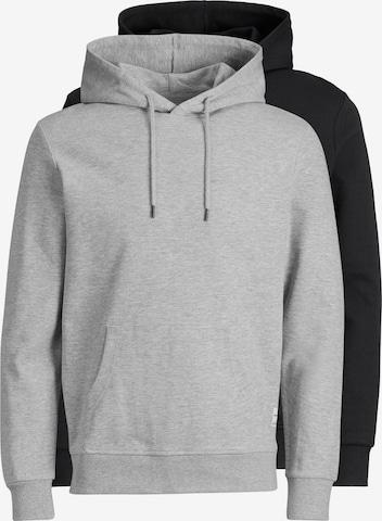 JACK & JONES Sweatshirt 'JJEBASIC SWEAT HOOD 2PK MP' in Black