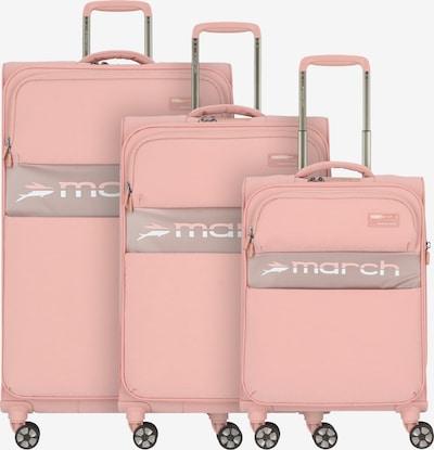 March15 Trading Kofferset 'Mosaic' in beige / pastellpink / weiß, Produktansicht