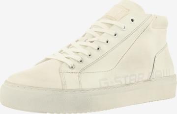 Sneaker înalt 'LOAM MID WORN' de la G-Star RAW pe alb