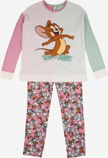 Miego kostiumas iš UNITED COLORS OF BENETTON , spalva - karamelės / šviesiai pilka / pastelinė žalia / mišrios spalvos / rožinė, Prekių apžvalga