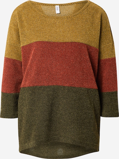 ONLY Shirt 'ALBA' in rostbraun / oliv / dunkelgrün, Produktansicht