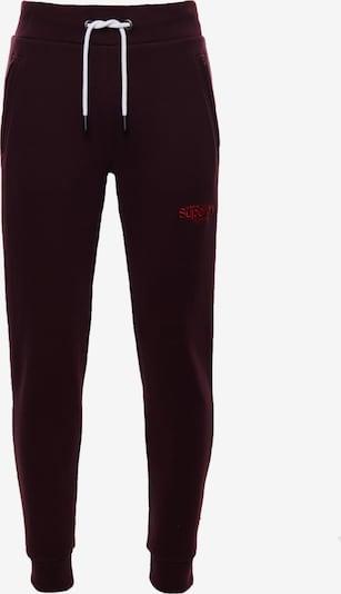 Superdry Pantalon de sport en bourgogne, Vue avec produit
