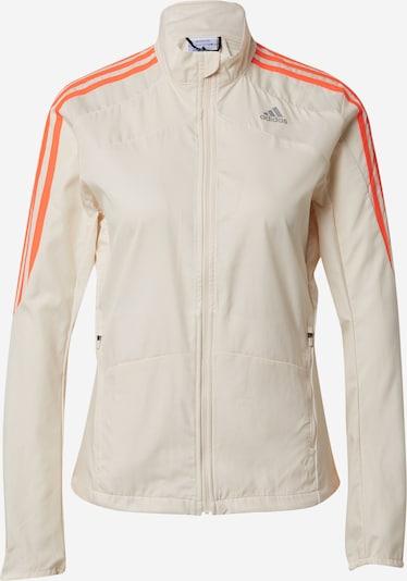 ADIDAS PERFORMANCE Sportjacke in grau / hellorange / weiß, Produktansicht