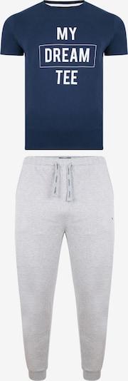 Threadbare Pyjama in dunkelblau / grau / weiß, Produktansicht