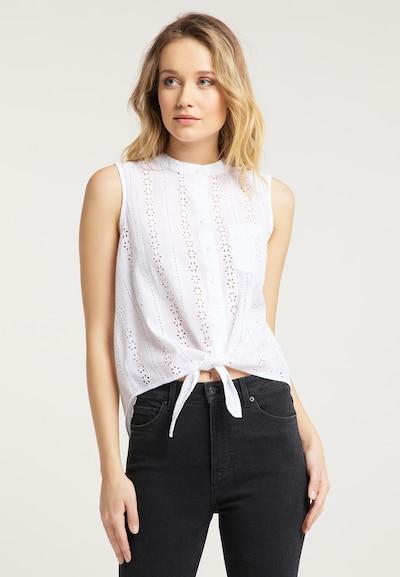 MUSTANG Bluse in weiß, Modelansicht