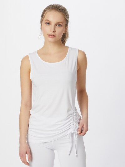 CURARE Yogawear Sports top in White: Frontal view