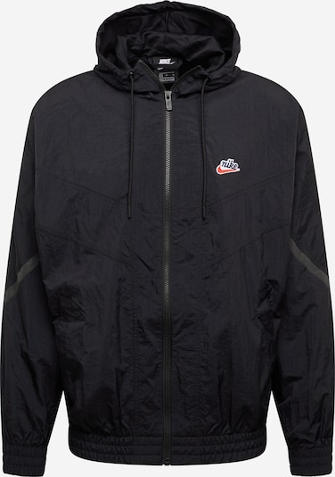 Nike Sportswear Tussenjas 'Windrunner' in de kleur Rookgrijs / Zwart, Productweergave