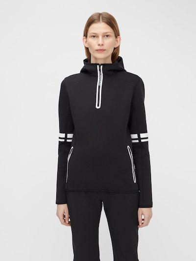 J.Lindeberg Sweatshirt in de kleur Zwart / Wit: Vooraanzicht