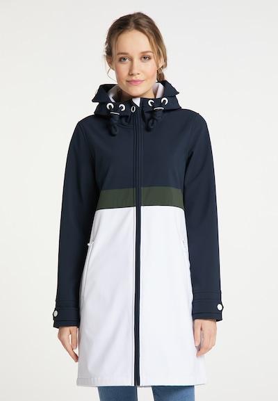 DreiMaster Maritim Manteau fonctionnel en bleu nuit / olive / blanc, Vue avec modèle