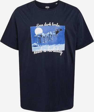 Marškinėliai 'STARMAS' iš Jack & Jones Plus , spalva - dangaus žydra / tamsiai mėlyna / pilka, Prekių apžvalga