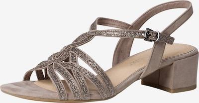MARCO TOZZI Sandalen met riem in de kleur Taupe: Vooraanzicht
