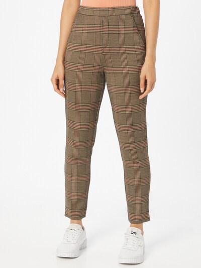 UNITED COLORS OF BENETTON Hose in khaki / rot / schwarz, Modelansicht