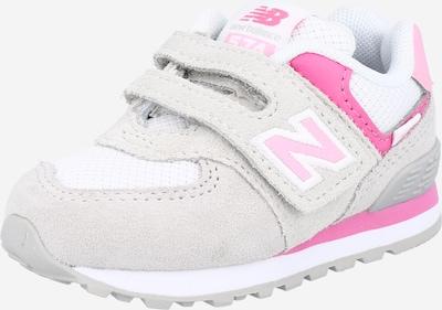 new balance Sneaker '574' in hellgrau / fuchsia / weiß, Produktansicht