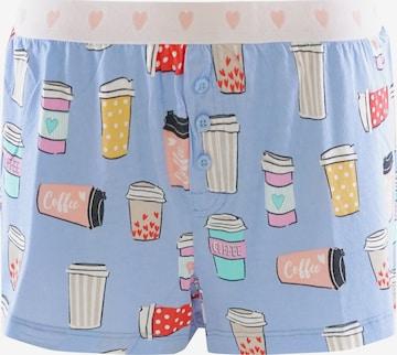 PJ Salvage Pyjamashorts ' Funny Style ' in Blau