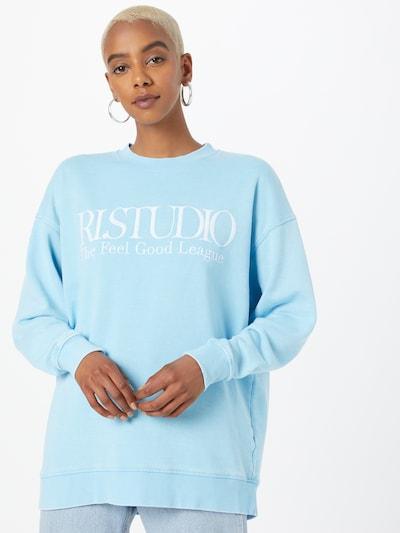 világoskék / fehér River Island Tréning póló: Elölnézet