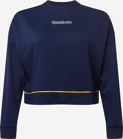 Reebok Sport Sportief sweatshirt in de kleur Navy / Wit, Productweergave