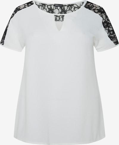 SPGWOMAN Kurzarmbluse in schwarz / weiß, Produktansicht