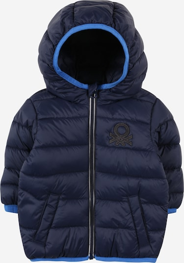 UNITED COLORS OF BENETTON Jacke in nachtblau / himmelblau, Produktansicht