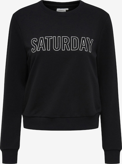 ONLY Sweatshirt 'Weekday' in schwarz / weiß, Produktansicht