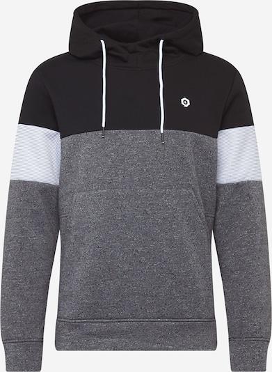 JACK & JONES Sweatshirt in grau / schwarz / weiß, Produktansicht
