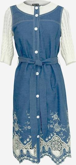 Wisell Jeanskleid mit gestrickten Ärmeln in blau / naturweiß, Produktansicht