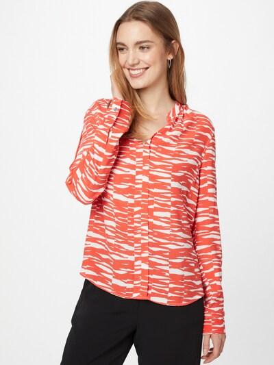 Calvin Klein Bluse in orange / weiß, Modelansicht