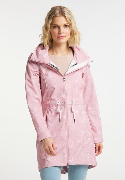 Schmuddelwedda Mantel in rosa / weiß, Modelansicht