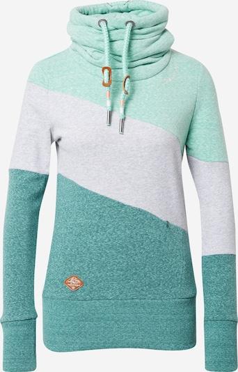 Ragwear Sweatshirt 'RUMIKA' in hellgrau / mint / dunkelgrün, Produktansicht
