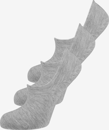 ELBEO Sneakersocken ' 3er-Pack Bamboo Füsslis ' in Grau