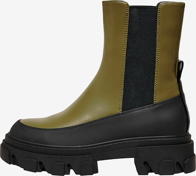ONLY Chelsea Boots 'Tola' in Olive / Black, Item view
