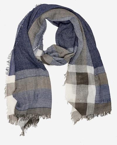 Emma & Kelly Sjaal in de kleur Blauw / Grijs, Productweergave