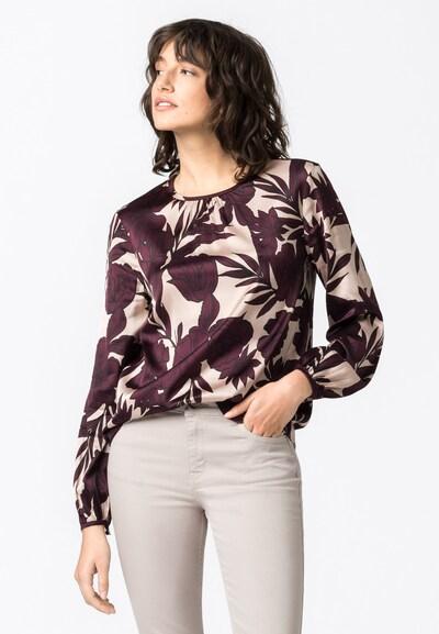 HALLHUBER Bluse in rosa / weinrot, Modelansicht