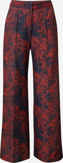Unique21 Pantalon en bleu nuit / rouge foncé, Vue avec produit