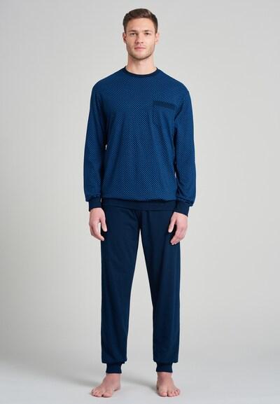 SCHIESSER Schlafanzug 'Fashion Nightwear' in blau / dunkelblau, Modelansicht