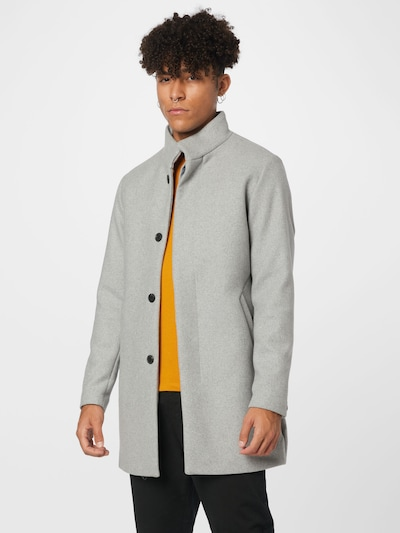 Demisezoninis paltas 'CONNOR' iš JACK & JONES, spalva – margai pilka, Modelio vaizdas