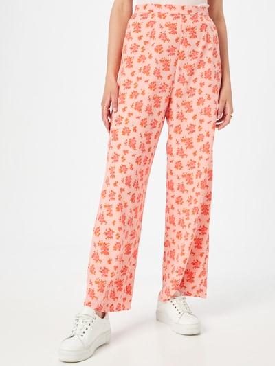 Fashion Union Hose in dunkelgelb / pink / rot, Modelansicht