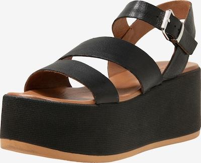 INUOVO Sandalen met riem in de kleur Zwart: Vooraanzicht