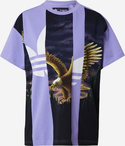 ADIDAS ORIGINALS T-shirt en marron / vert foncé / lilas / noir / blanc, Vue avec produit
