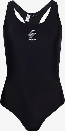 Superdry Sportbadpak in de kleur Grijs / Zwart / Wit, Productweergave