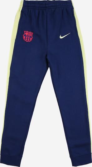 NIKE Спортен панталон 'FC Barcelona' в синьо / пастелно зелено / червено, Преглед на продукта