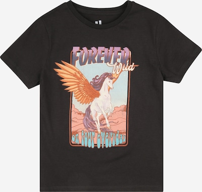 Cotton On T-Shirt 'PENELOPE' en bleu clair / anthracite / violet / orange / blanc, Vue avec produit