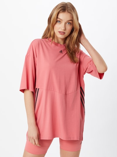 ADIDAS PERFORMANCE Tehnička sportska majica u roza / crna: Prednji pogled