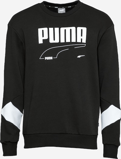 PUMA Sportsweatshirt 'REBEL' in schwarz / weiß, Produktansicht
