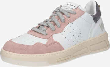WOMSH Platform trainers 'HYPER NUDE AVION' in White