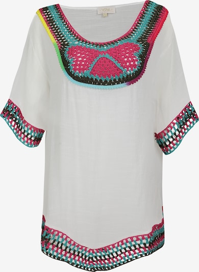 usha FESTIVAL Tuniek in de kleur Blauw / Pink / Zwart / Wit, Productweergave