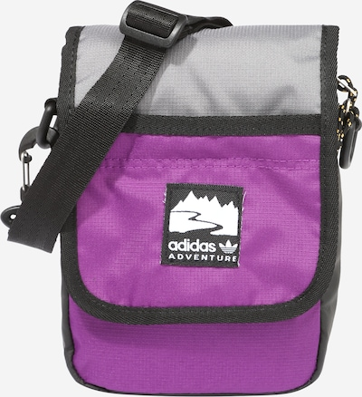 ADIDAS ORIGINALS Schoudertas in de kleur Grijs / Donkerlila / Zwart, Productweergave