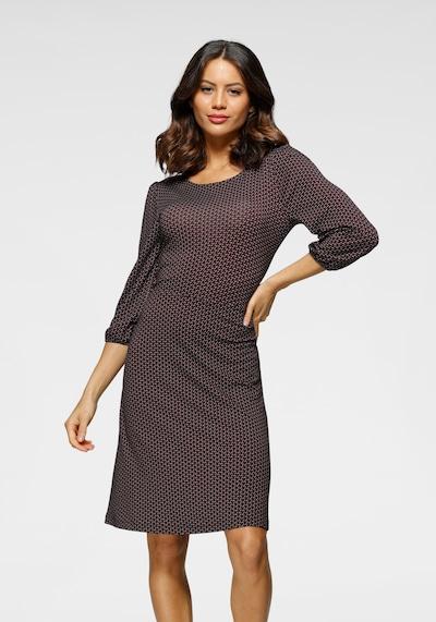 LAURA SCOTT Dress in Beige / Dark brown / Grey, View model
