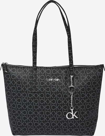Calvin Klein Shopper 'Monogram' in dark grey / black, Item view